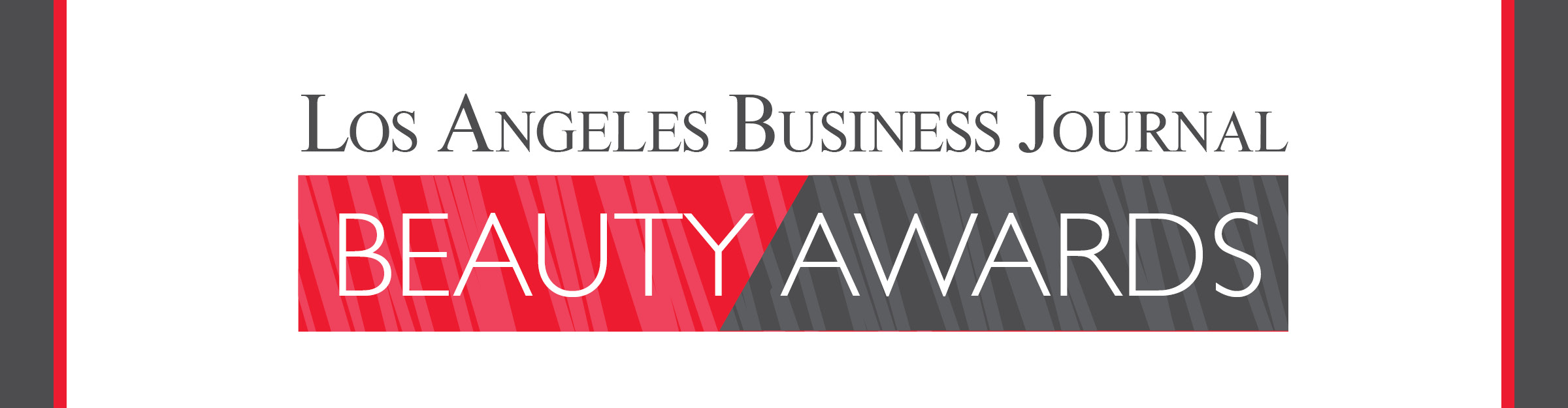 Los Angeles Business Journal Beauty Awards Event Banner