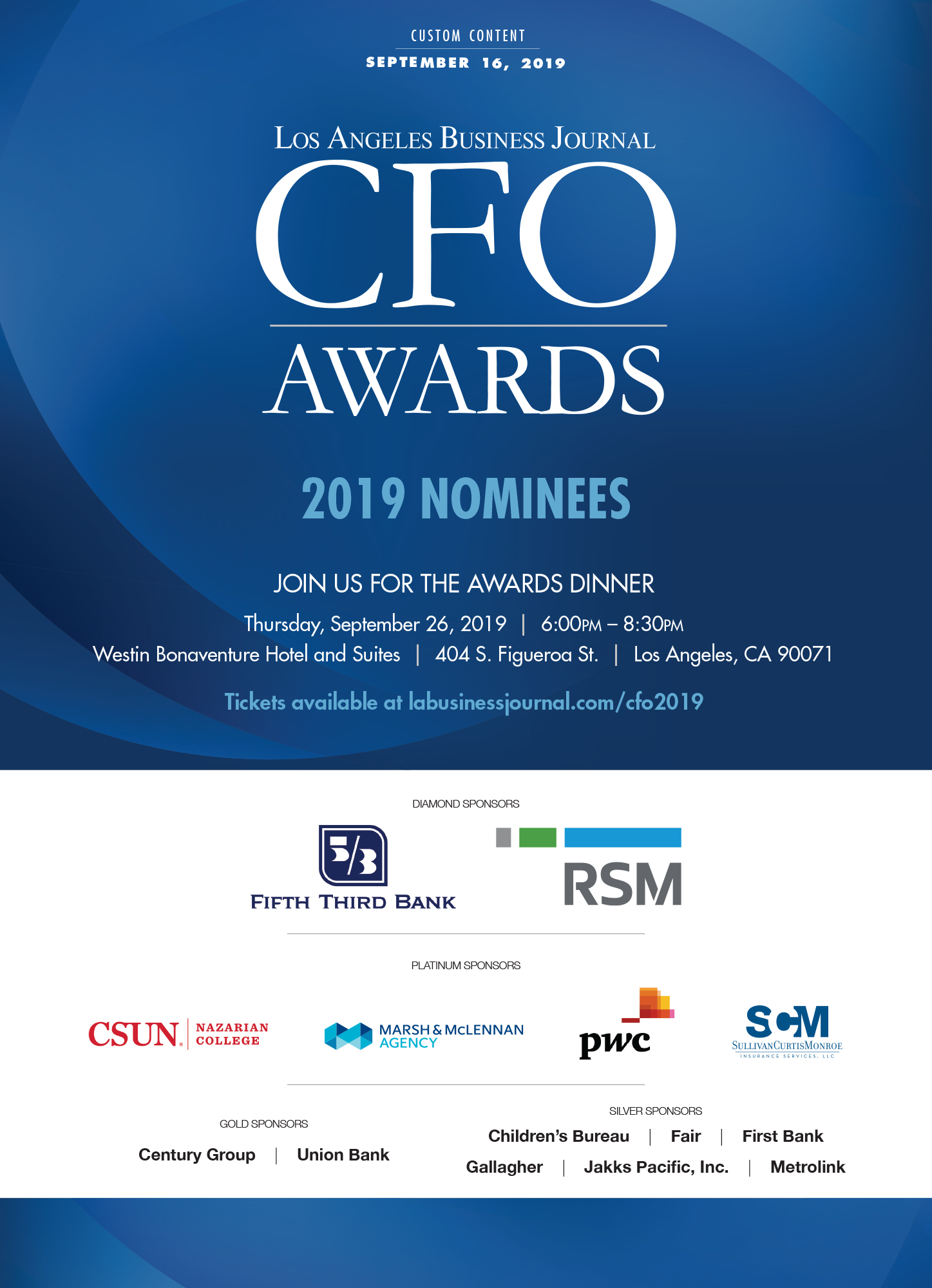 Cfo Awards Los Angeles Business Journal