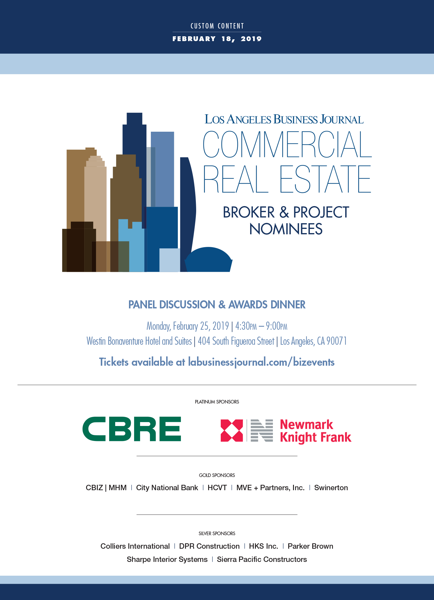Commercial Real Estate Awards Los Angeles Business Journal