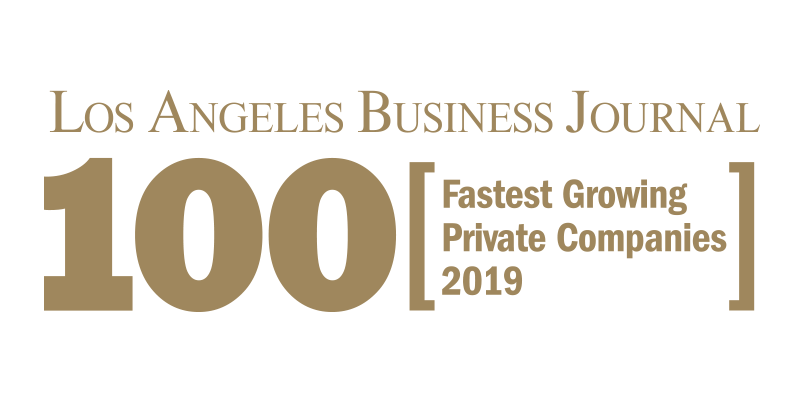 Los Angeles Business Journal 100 Fastest Growing Private Companies Logo