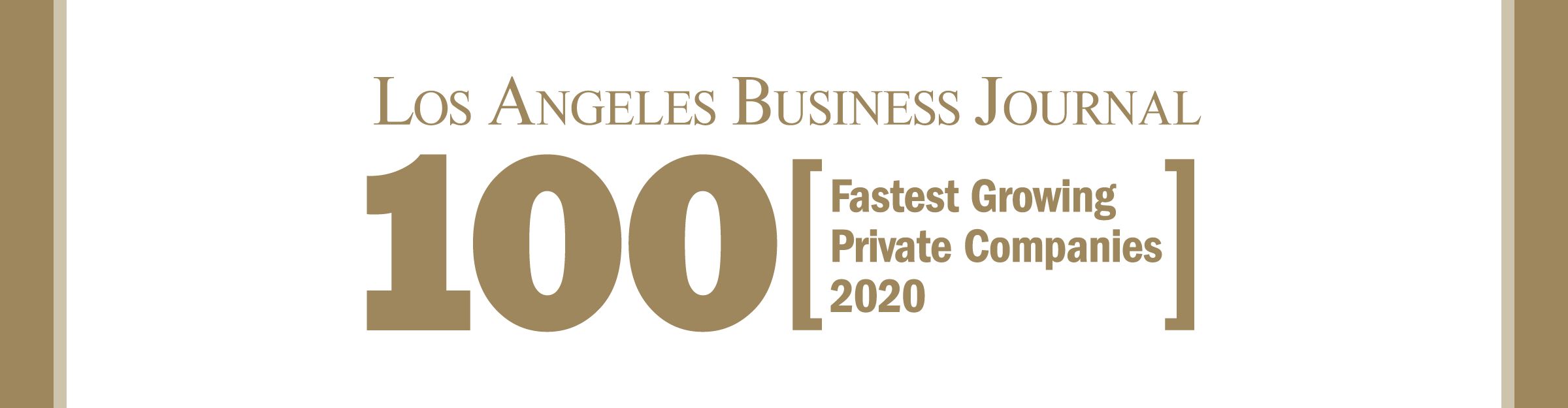 Los Angeles Business Journal 100 Fastest Growing Private Companies Event Banner