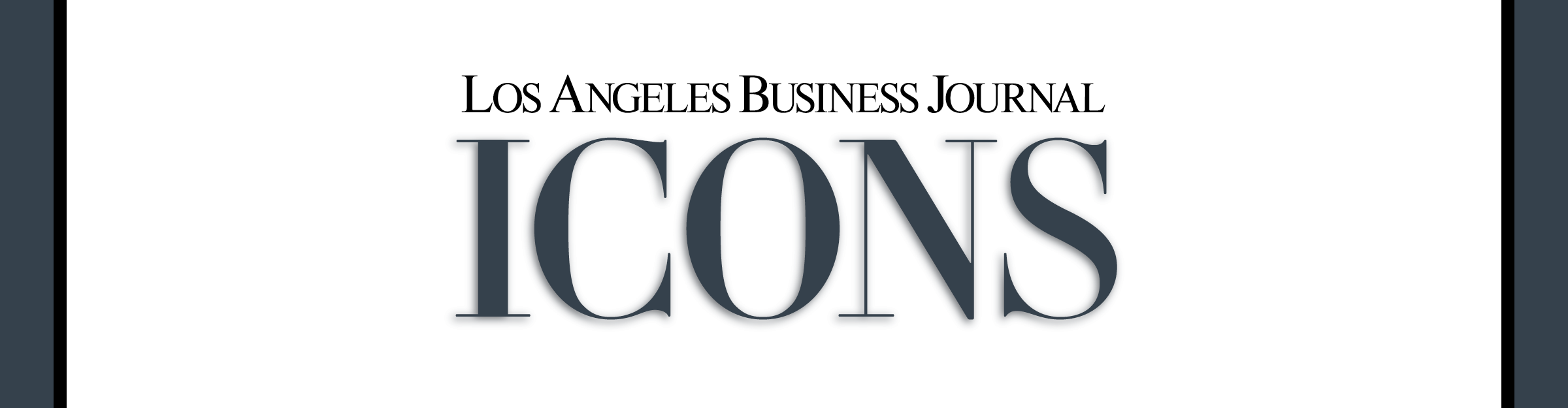 Los Angeles Business Journal ICONS Event Banner