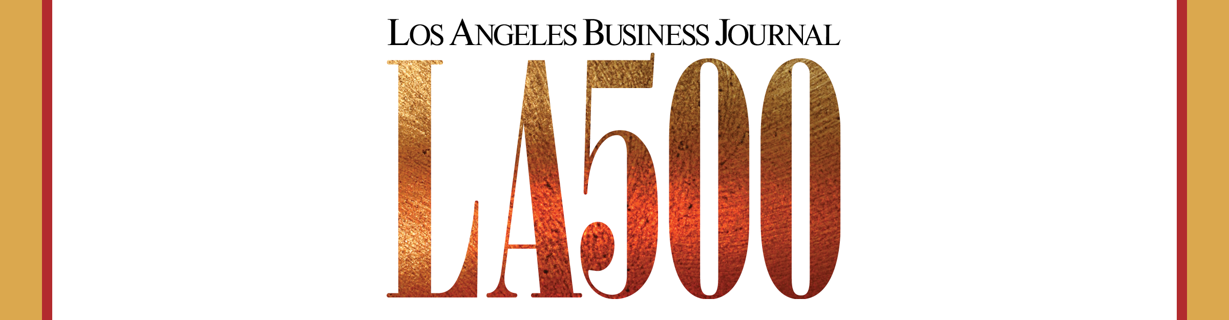 Los Angeles Business Journal LA 500 Event Banner