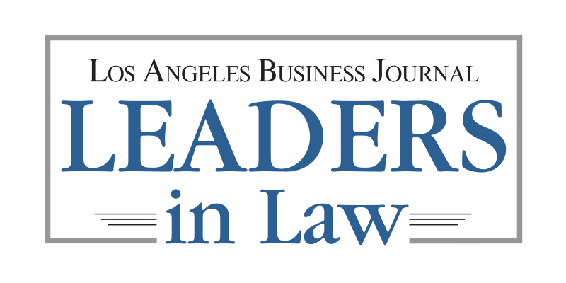 Los Angeles Business Journal Leaders in Law Logo
