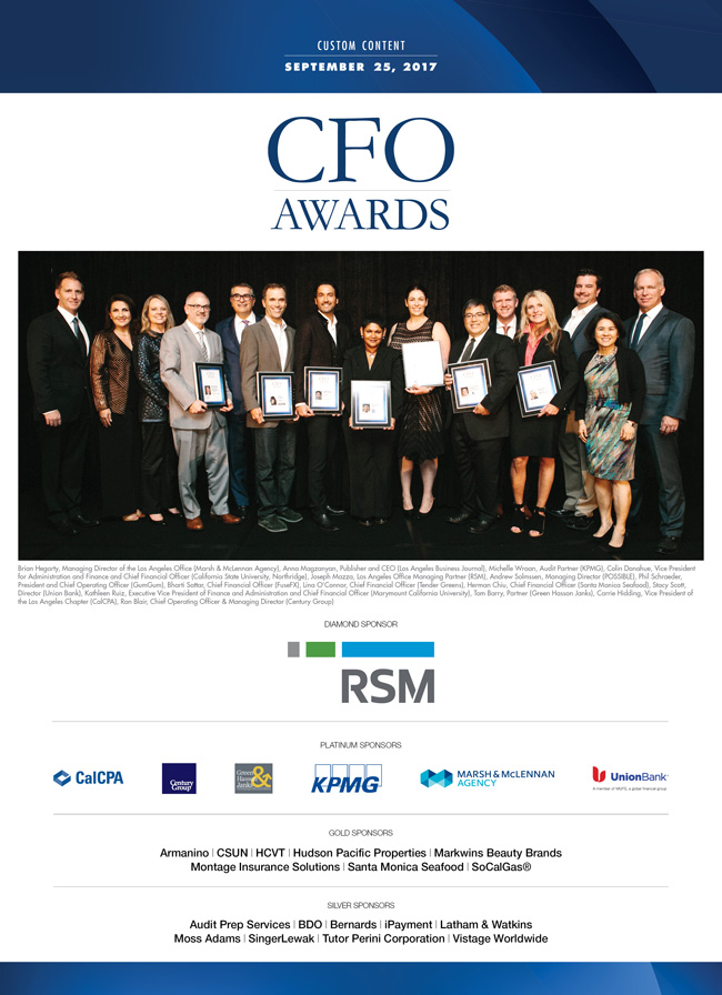 CFO Awards 2017 | Los Angeles Business Journal